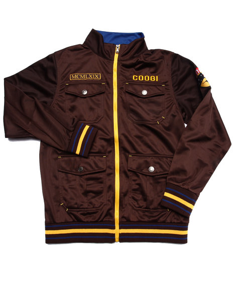 Coogi - Boys Brown Tricot Track Jacket (8-20)