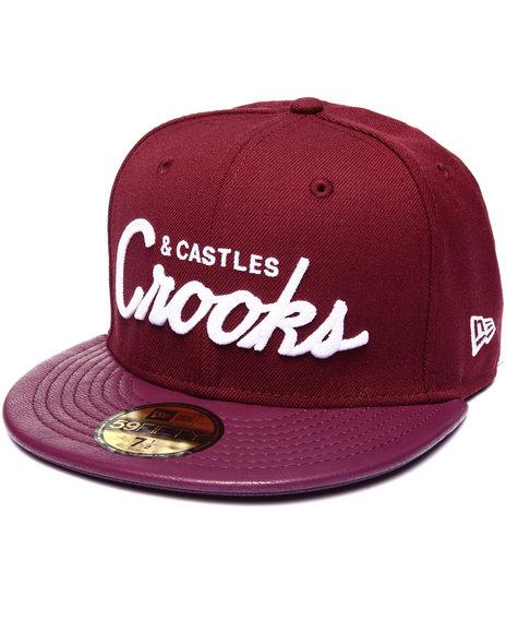 Crooks & Castles - Men Red Crooks League Fitted Cap