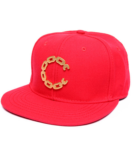 Crooks & Castles Men Thuxury Chain C Strapback Red