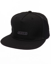 Men - Crooks Metal Badge Strapback Cap
