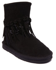 "Footwear - Alpine 8"" Sequin Shaft Suede Tassels Bootie"