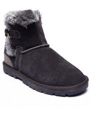 "Footwear - Sporty 7"" Exposed Faux Fur Cuff Suede Bootie"
