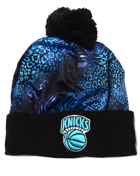 New Era Men New York Knicks Jungle Freak Knit Hat Blue