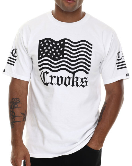 Crooks & Castles - Men White Republic T-Shirt