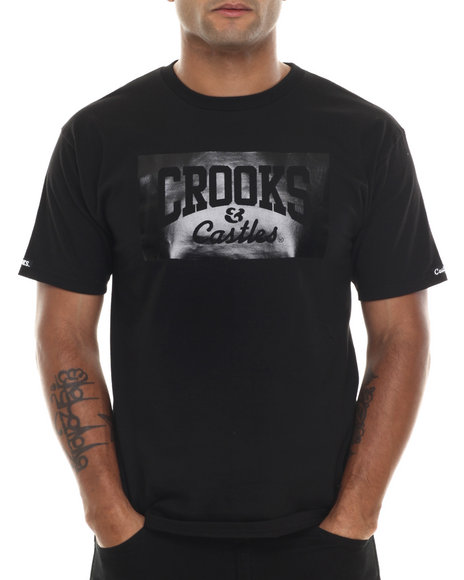 Crooks & Castles - Men Black Lowlife T-Shirt