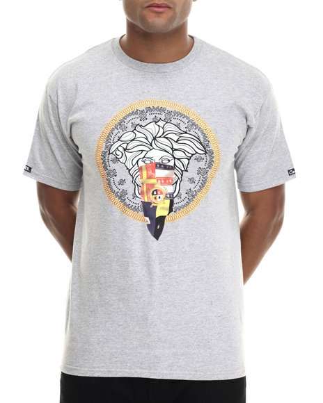 Crooks & Castles - Men Grey Lo'dusa T-Shirt