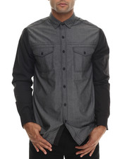 Buyers Picks - Chambray & Black Trim detailed Button down shirt
