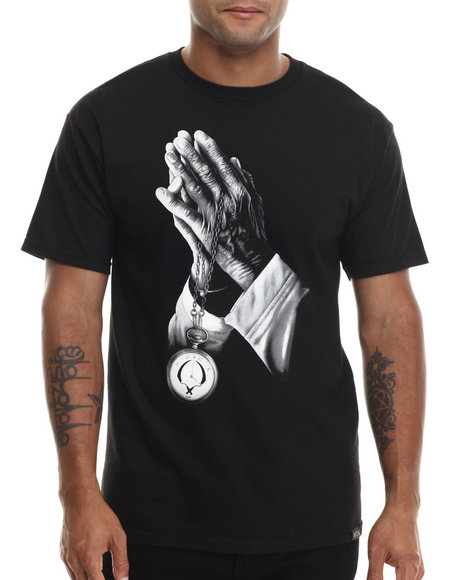 Rook - Men Black Praying Hands T-Shirt