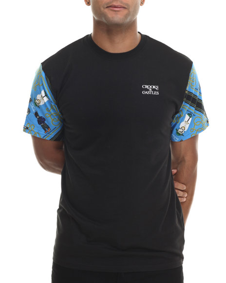 Crooks & Castles - Men Black Sportluxe T-Shirt