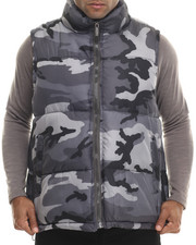 Outerwear - Padded Camo Bubble vest (M-6x)