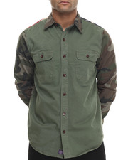 Button-downs - Flagged Camo - Sleeved L/S Button-Down
