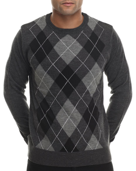 Buyers Picks - Men Charcoal Classic Argyle Sweater - $17.99