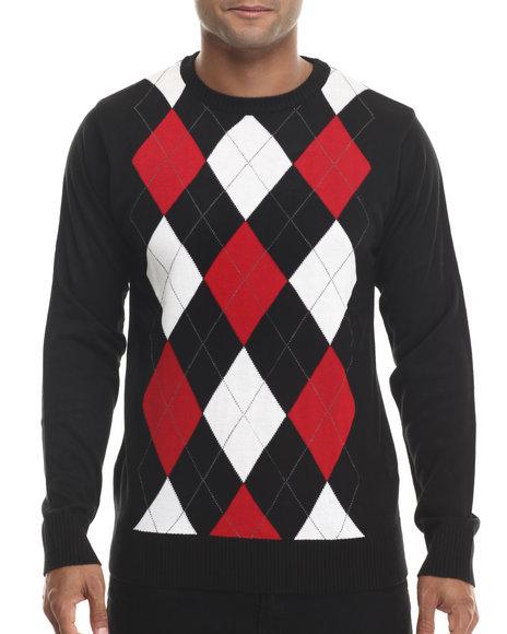 Buyers Picks - Men Black,Red,White Classic Argyle Sweater - $19.99