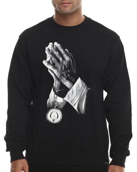 Rook - Men Black Praying Hands Sweatshirt