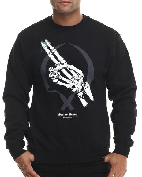 Ur-ID 199510 ROOK - Men Black Scouts Honor Sweatshirt (Glow)