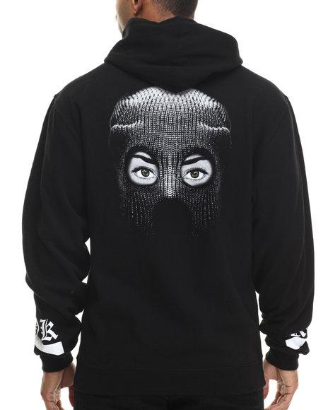 Rook - Men Black Robbed Hood Hoodie