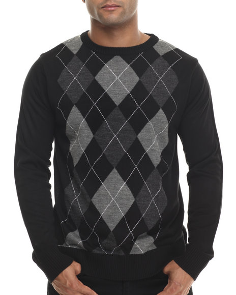 Buyers Picks - Men Black Classic Argyle Sweater - $34.99