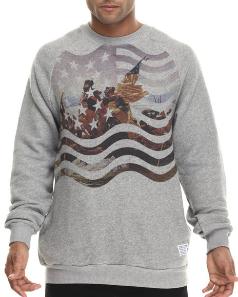 Crooks & Castles - Men Grey Triumph Sweatshirt