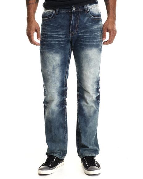 Buyers Picks - Men Medium Wash Premium Washed X Backpocket Denim Jeans - $40.00