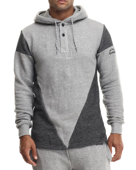 Crooks & Castles - Men Grey Sportieh Rugby Top