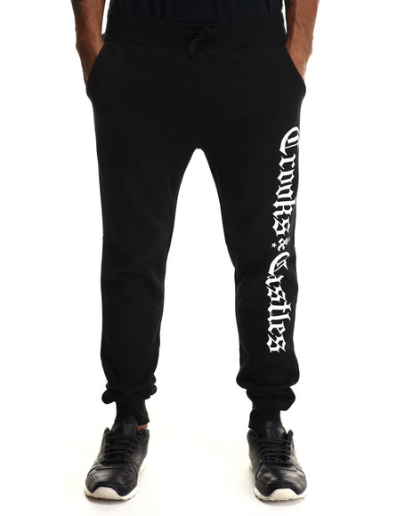 Crooks & Castles - Men Black Republic Sweatpant
