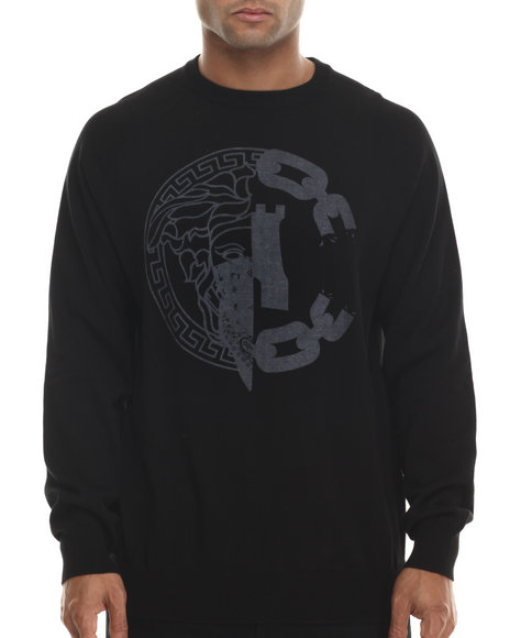 Crooks & Castles - Men Black Bloodline Sweatshirt - $59.99