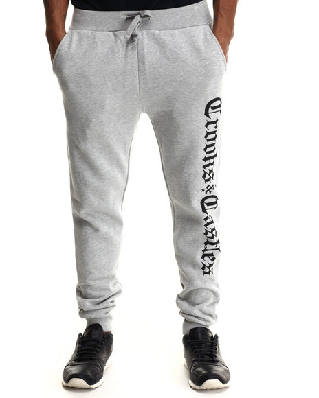 Crooks & Castles - Men Grey Republic Sweatpant