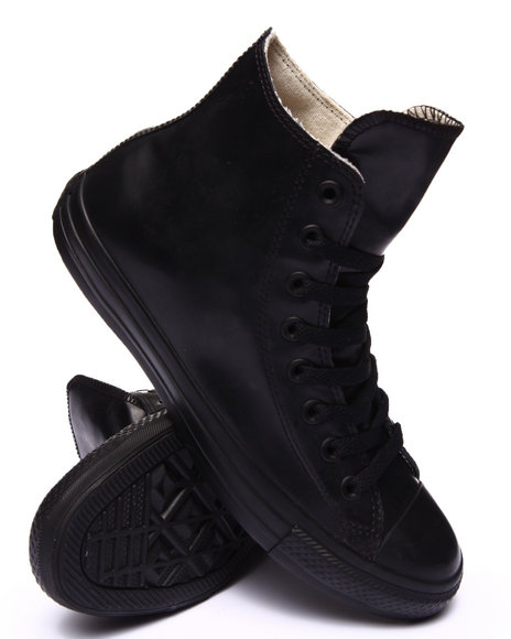 Converse - Men Black Chuck Taylor All Star Rubber Sneakers - $65.00