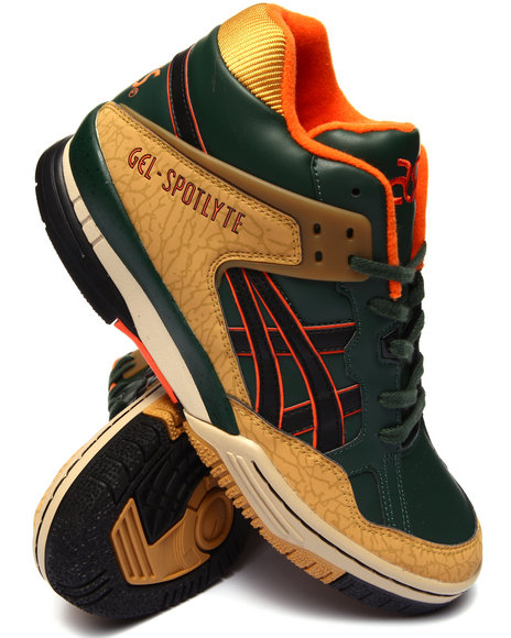 Asics - Men Green,Wheat Gel Spotlyte Sneakers