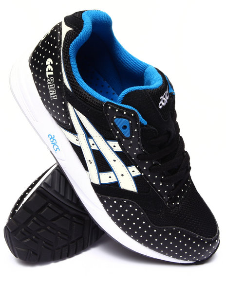 Asics - Men Black Glow In The Dark Gel Lyte Iii Sneakers