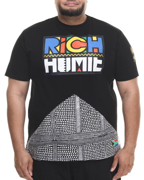 Eight 732 - Men Black Rich Homie T-Shirt (B&T)