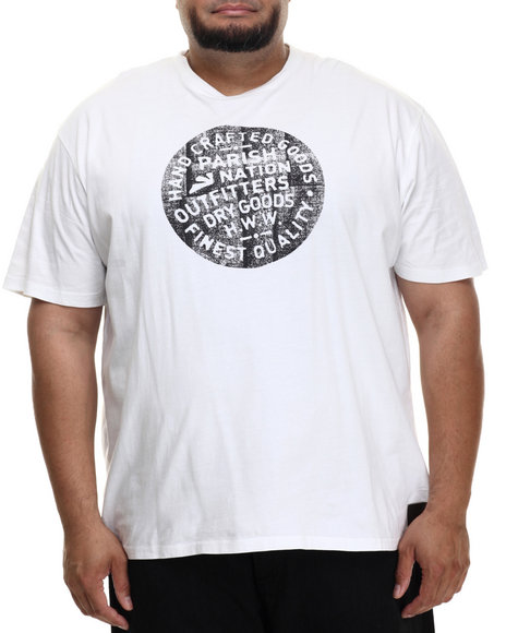 Parish - Men White Graphic T-Shirt (B&T)