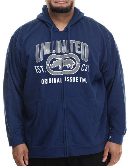 Ur-ID 199429 Ecko - Men Navy Original Issue Zip Hoodie (B&T)