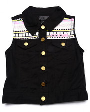 Girls - AZTEC DENIM VEST (7-16)