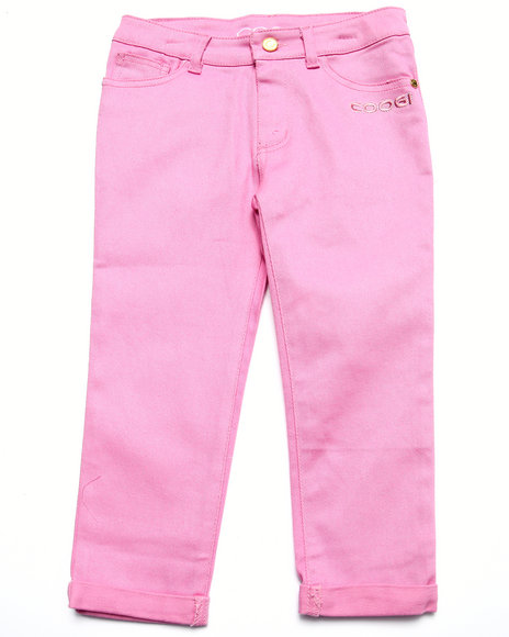 Coogi - Girls Pink Color Twill Jeans (7-16) - $29.99