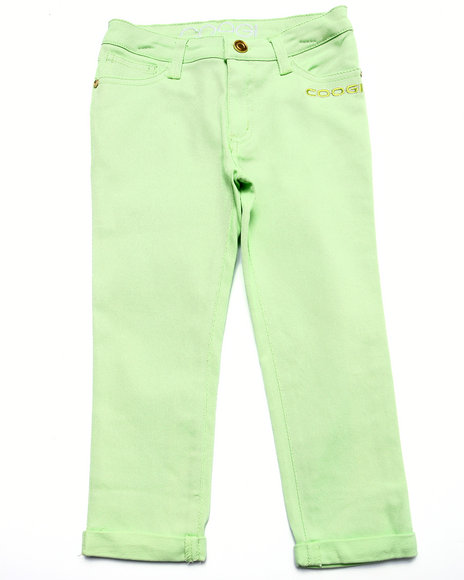 Coogi - Girls Lime Green Color Twill Jeans (7-16) - $24.99