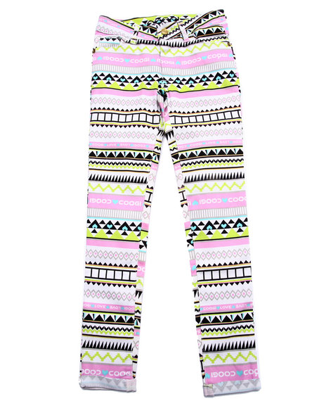 Coogi - Girls Multi Aztec Print Twill Jeans (7-16) - $47.99