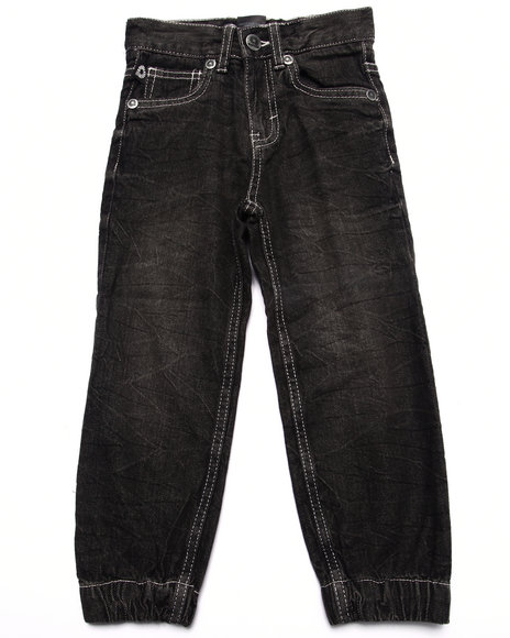 Akademiks - Boys Black Denim Joggers (4-7)