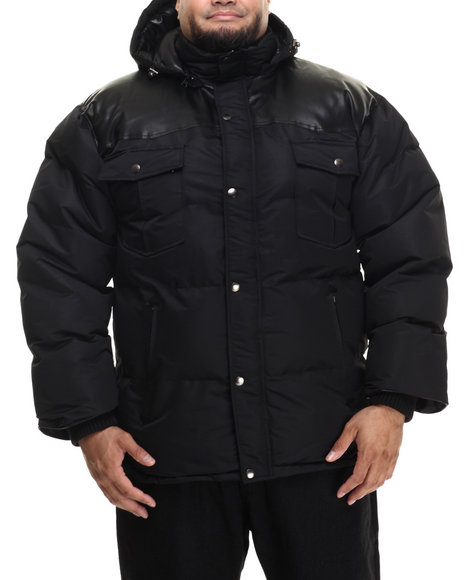 Basic Essentials - Men Black Beef Cake Mix - Media Quilted Jacket (B&T)