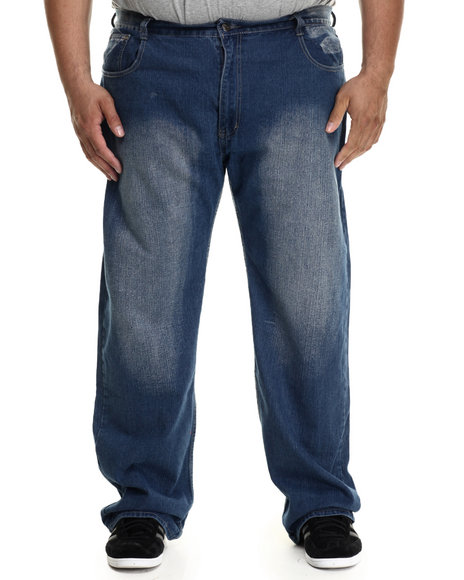 Buyers Picks - Men Medium Wash Lariat Back - Pocket Denim Jeans (B&T) - $29.99