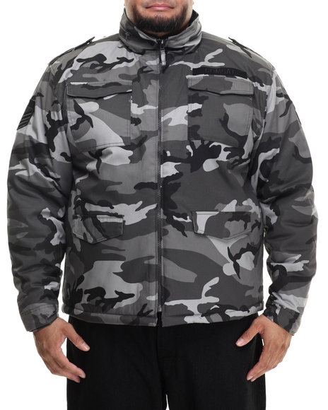 Buyers Picks - Men Camo,Grey M63 Fashion Camo Jacket (B&T) - $41.99