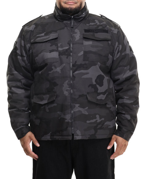 Buyers Picks - Men Black,Camo M63 Fashion Camo Jacket (B&T)