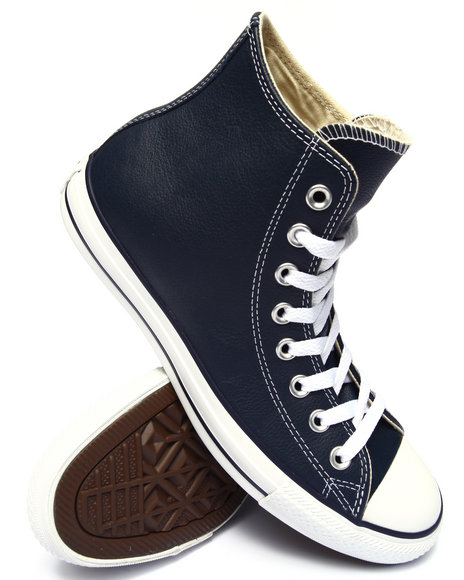 Converse - Men Navy Chuck Taylor All Star Leather Sneakers
