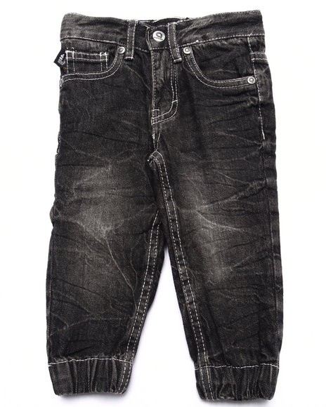 Akademiks - Boys Black Denim Joggers (Infant)