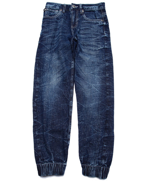 Akademiks - Boys Medium Wash Denim Joggers (8-20)