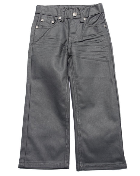 Akademiks - Boys Grey Wax Coat Jeans (4-7)
