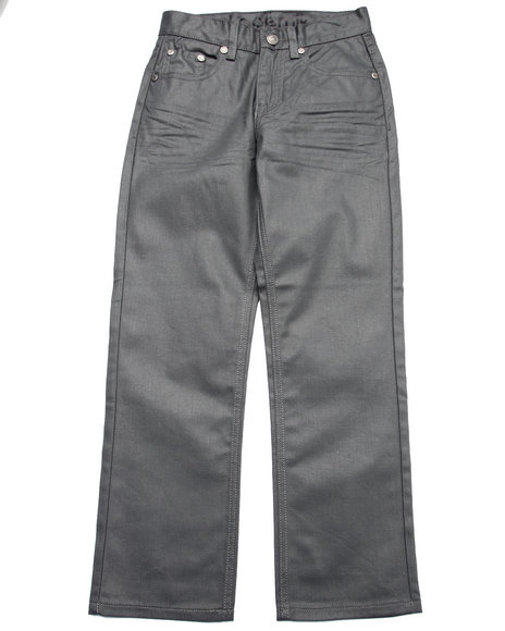 Akademiks - Boys Grey Wax Coat Jeans (8-20)