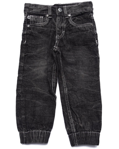 Akademiks - Boys Black Denim Joggers (2T-4T)