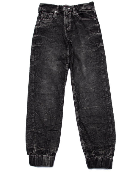 Akademiks - Boys Black Denim Joggers (8-20)