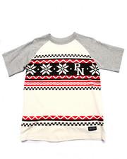 Sizes 8-20 - Big Kids - SNOWFLAKE RAGLAN TEE (8-20)
